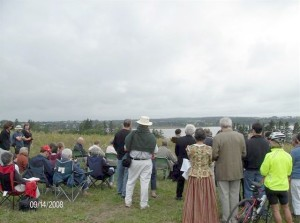 Many came to the Acadian Commemoration at Upton