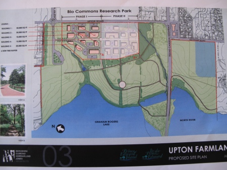 Proposed plan for Upton Farmlands