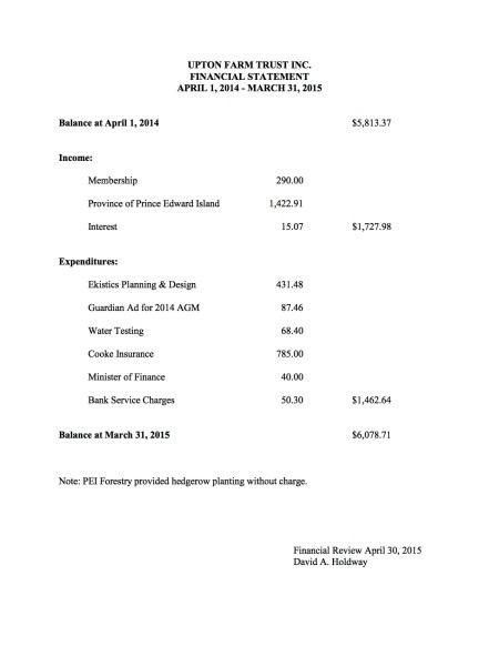 AGM Financial Stetement - 2015